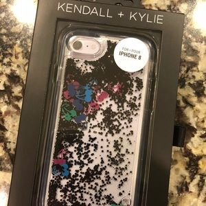 Kendall & Kylie Accessories - Glitter iPhone 8 phone case by Kendall and Kylie